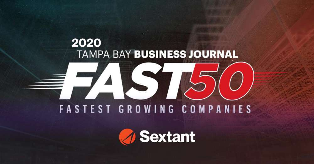 sextant named one of tampa bay business journal's fast 50