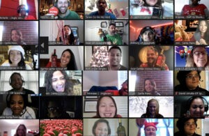The team at Sextant Marketing come together virtually to celebrate the holidays and Sextant's second annual Founder's Day.